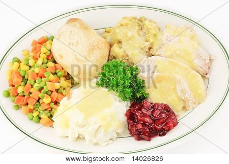 Turkey And Dressing Thanksgiving Meal