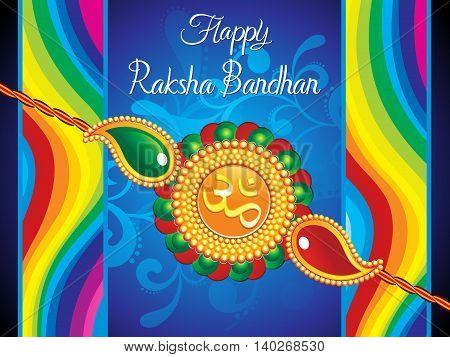 abstract artistic raksha bandhan background vector illustration