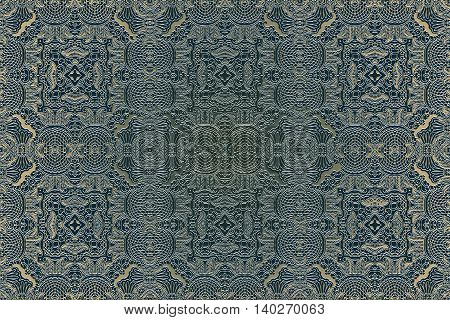 Guilloche pattern monogram openwork decoration elements Seamless texture