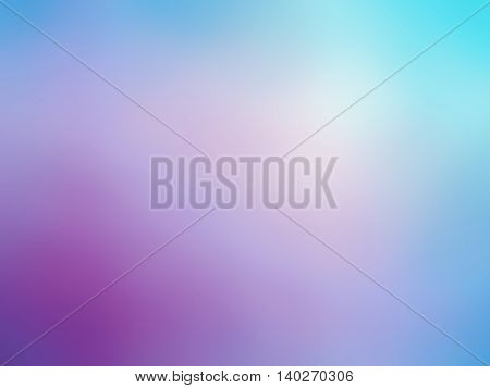 Abstract gradient purple blue teal colored blurred background.