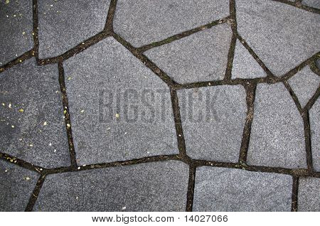 stone path with textures in grey