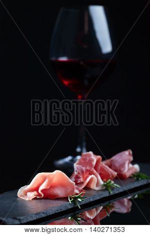 Jamon With Rosemary And Red Wine