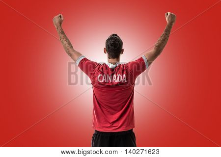 Athlete on Canada uniform