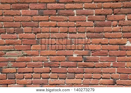 A background of a red brick wall.