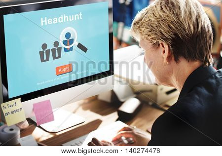 Headhunt Recruitment Scouting Hiring Employment Concept