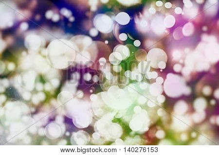 Vintage Magic Background With Color Festive background with natural bokeh and bright lights.
