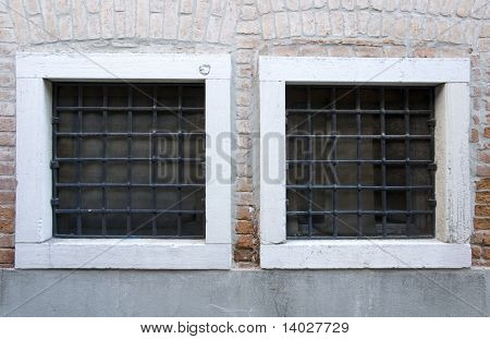Old Venice Windows with metal bars