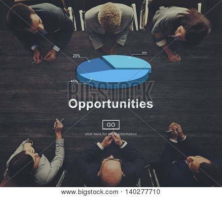 Opportunity Occasion Chance Impossible Achievement Concept