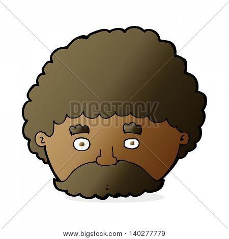 cartoon man with mustache