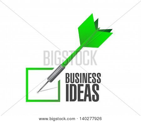 business ideas check dart sign concept illustration design graphic