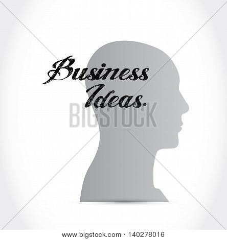 business ideas thinking brain sign concept illustration design graphic