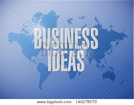 business ideas world map sign concept illustration design graphic