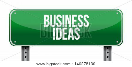 Business Ideas Horizontal Road Sign Concept