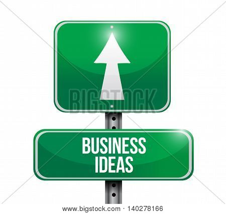 Business Ideas Road Sign Concept