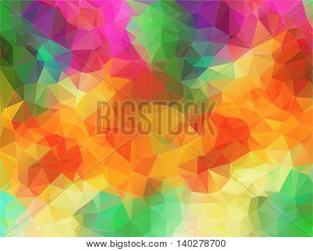 Abstract 2D mulicolor composition with triangle geometric shapes for your design