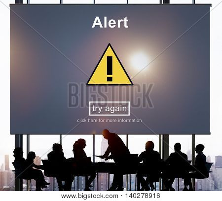 Alert Warning Notification Hack Signal Concept