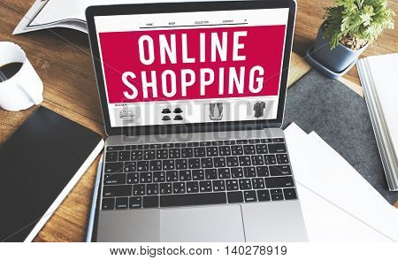Online Shopping Retail Buying Concept