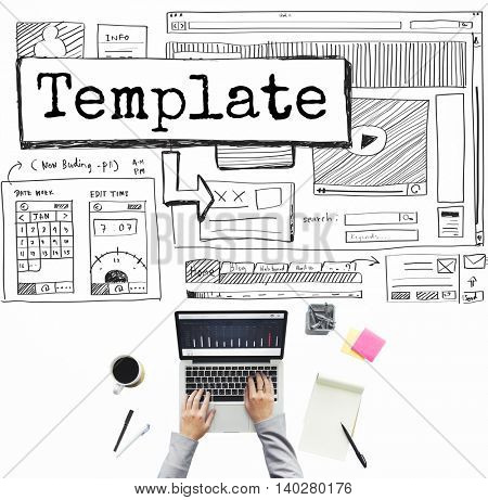 Template Website Design Layout Responsive Concept