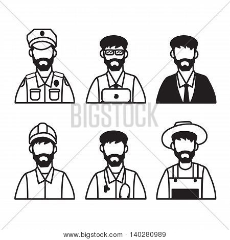 Men vector flat icon design on the white background.