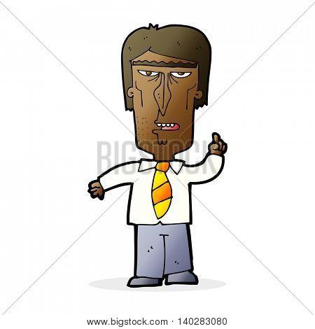 cartoon grumpy boss