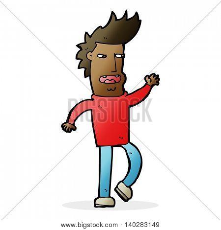 cartoon loudmouth man