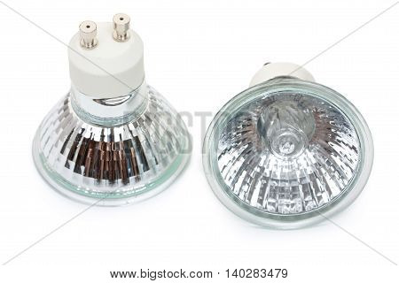 Pair Of Halogen Bulbs With Gu10 Sockets