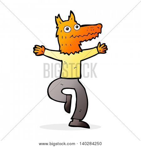 cartoon fox man