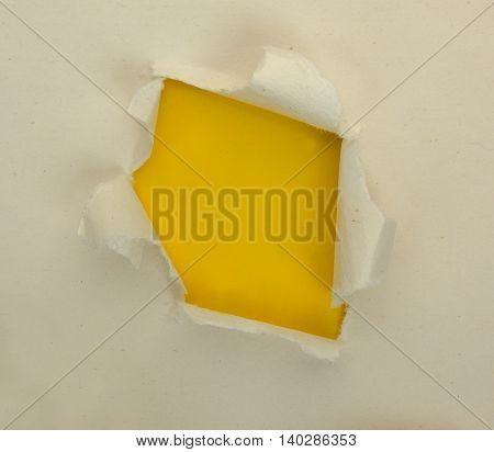 Rough faded torn paper with yellow backgrounds