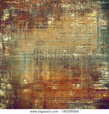 Colorful vintage background, grunge texture with scratches, stains and different color patterns: yellow (beige); brown; gray; green; red (orange); purple (violet)