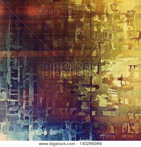 Art grungy texture, aged background with retro feeling. With different color patterns: yellow (beige); brown; blue; red (orange); purple (violet); pink