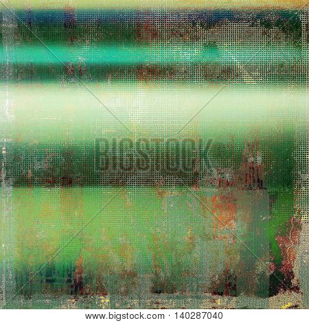 Oldest vintage background in grunge style. Ancient texture with different color patterns: yellow (beige); brown; green; blue; red (orange); white