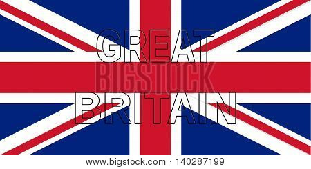 Illustration of a Union Jack with the word Great Britain on it