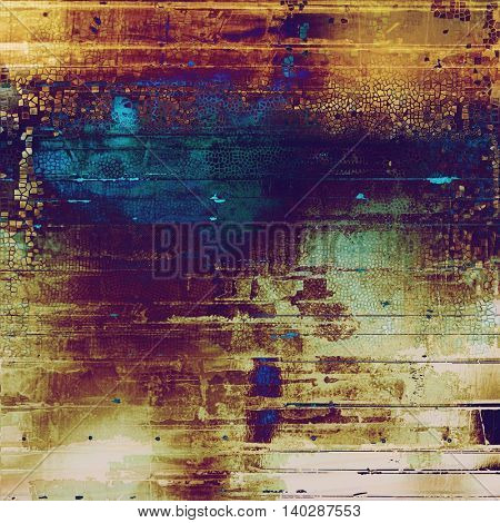 Ancient texture or damaged old style background with vintage grungy design elements and different color patterns: yellow (beige); brown; green; blue; red (orange); purple (violet)