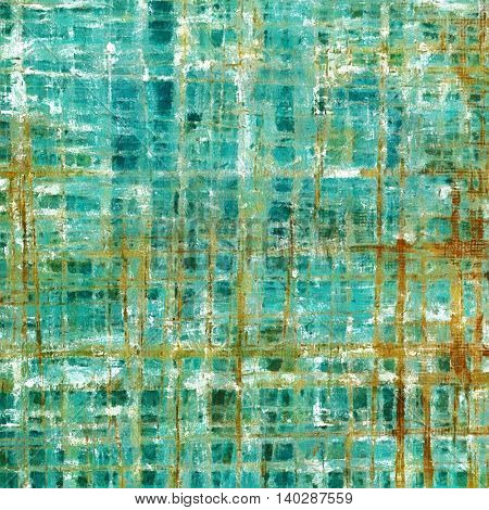 Vintage background, antique grunge backdrop or scratched texture with different color patterns: yellow (beige); brown; gray; green; blue; cyan