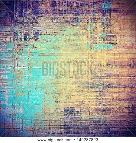 Abstract faded retro background or shabby texture with vintage style design and different color patterns: yellow (beige); brown; blue; red (orange); purple (violet); pink
