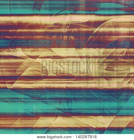 Abstract faded retro background or shabby texture with vintage style design and different color patterns: yellow (beige); brown; blue; purple (violet); cyan; pink