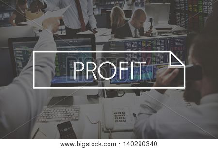 Profit Gain Earn Accounting Finance Concept