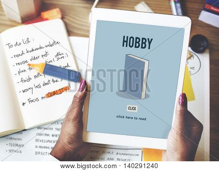 Hobby Education Academic Knowledge Book Study Concept