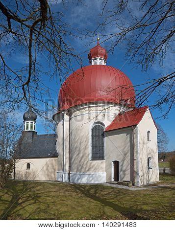 Pictorial Pilgrimage Chapel Near Iffeldorf, Bavaria