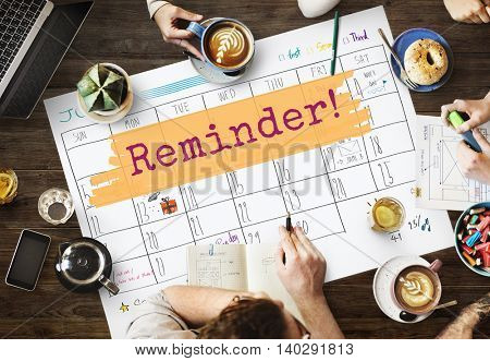 Reminder Agenda Planner Calendar To Do Concept