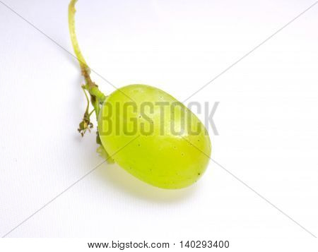 Isolated big grapes berry on white background