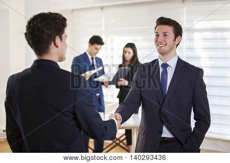 Business Agreement Concept in Office Conceptual Business
