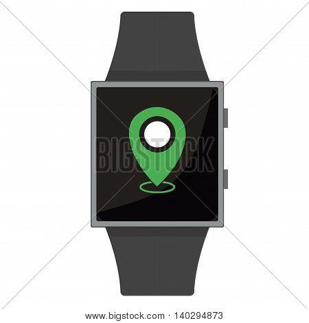 Smart Watch. Destination. Cartoon Style. Flat Element. Vector Illustration.