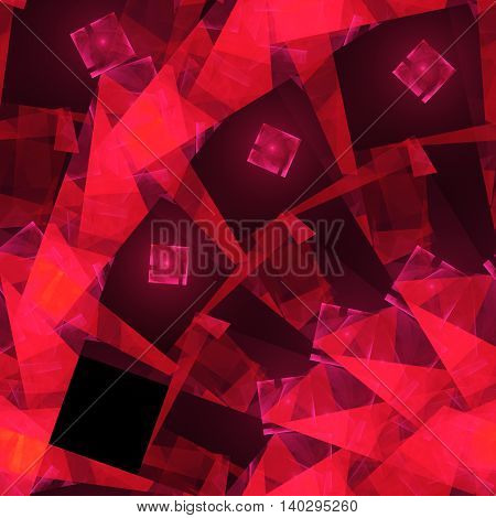 Squares and crystals. 3D surreal illustration. Sacred geometry. Mysterious psychedelic relaxation pattern. Fractal abstract texture. Digital artwork graphic astrology alchemy magic