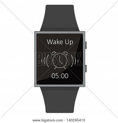 Smart Watch. Alarm, Wake Up. Cartoon Style. Flat Element. Vector Illustration.