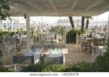 Small Restaurant On The Beach