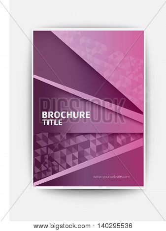 violet Modern flyer design layout template in A4 size, Vector abstract brochure / book / flyer design template business brochure