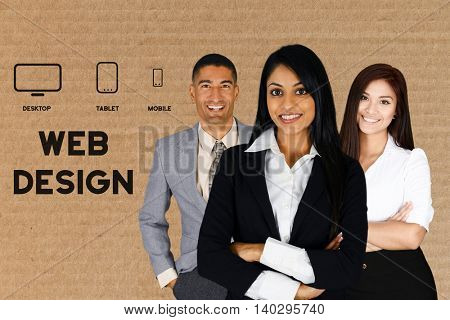 Team of people who are designing a website