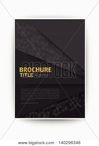 vector eps10 grey Modern Vector abstract brochure / book / flyer design template business brochure flyer design layout template in A4 size, with blur background