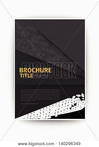 grey business brochure blue Modern Vector abstract brochure / book / flyer design template flyer design layout template in A4 size, vector eps10.